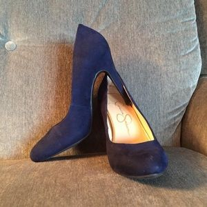 Jessica Simpson Blue Suede Pumps size 8